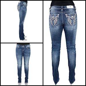 Miss Me Fallen Angel Straight Jeans